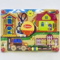 Деревянная игрушка Развивающая доска Бизиборд 35х25 см М 02998