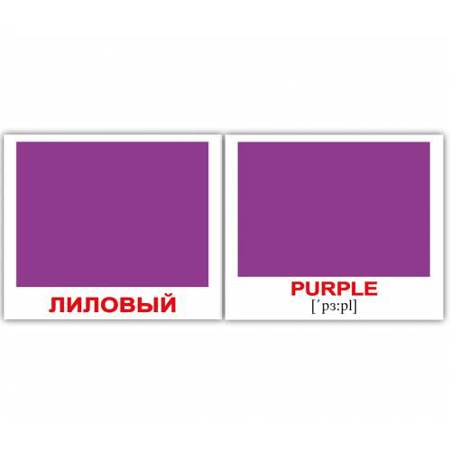 Англо-русские карточки Домана МИНИ ЦВЕТА/COLORS 40 Вундеркинд с пелёнок 6716