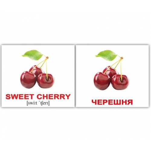 Англо-русские карточки Домана МИНИ ФРУКТЫ/FRUIT 40 Вундеркинд с пелёнок 6778