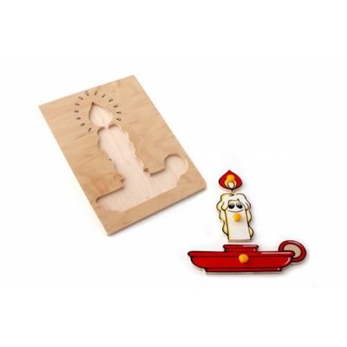 Деревянная игрушка Вкладыши Свечка ЛЭМ 1001