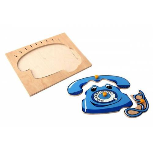 Деревянная игрушка Вкладыши Телефон ЛЭМ 1002