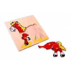 Деревянная игрушка Вкладыши Лошадка ЛЭМ 1006