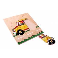Деревянная игрушка Вкладыши Автомобиль ЛЭМ 1011