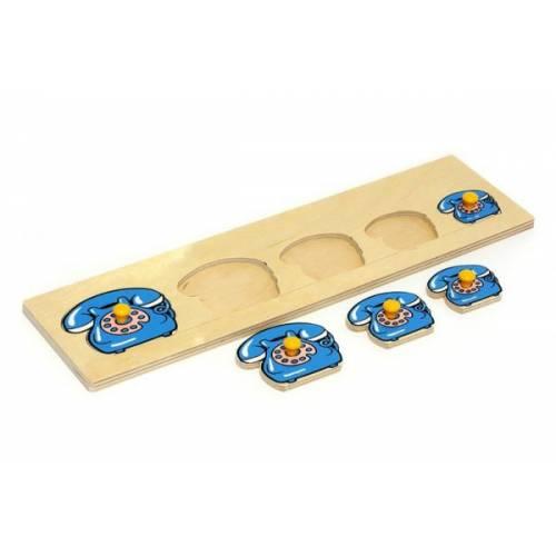 Деревянная игрушка Вкладыши Телефоны ЛЭМ 1018