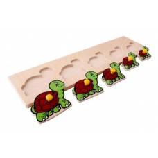 Деревянная игрушка Вкладыши Черепахи ЛЭМ 1019