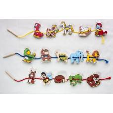 Деревянная игрушка Шнуровка Шнуровка Животные ЛЭМ 1033-2