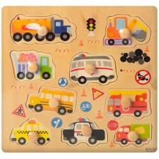 Деревянная игрушка  Рамка-вкладыш Транспорт Wooden Toys 1088