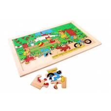 Деревянная игрушка Пазл Парк ЛЭМ 1300