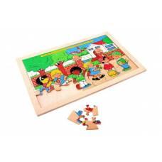Деревянная игрушка Пазл Школа ЛЭМ 1302