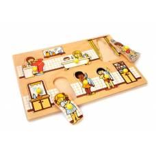 Деревянная игрушка Вкладыши Ванная комната ЛЭМ 1401