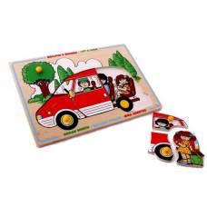 Деревянная игрушка Пазл Автомобиль ЛЭМ 1425