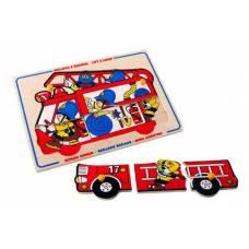 Деревянная игрушка Пазл Пожарные ЛЭМ 1427