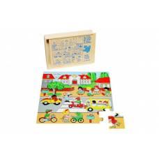 Деревянная игрушка Пазл Город ЛЭМ 1431