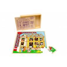 Деревянная игрушка Пазл Стройка ЛЭМ 1433