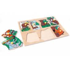 Деревянная игрушка Вкладыши Животные наших лесов ЛЭМ 1435