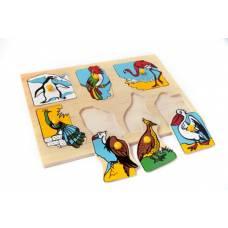 Деревянная игрушка Вкладыши Экзотические птицы ЛЭМ 1436