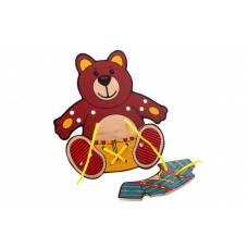 Деревянная игрушка Шнуровка Медвежонок ЛЭМ 1462