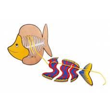 Деревянная игрушка Шнуровка Рыба ЛЭМ 1463