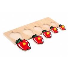 Деревянная игрушка Вкладыши Яблоки ЛЭМ 1470