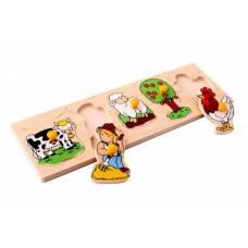 Деревянная игрушка Вкладыши Ферма ЛЭМ 1477