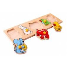 Деревянная игрушка Вкладыши  Детёныши ЛЭМ 1478