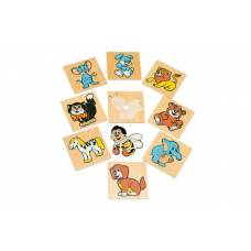 Деревянная игрушка Вкладыши Забавные животные ЛЭМ 1480