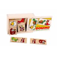 Деревянная игрушка Игра Домино Животные ЛЭМ 1501