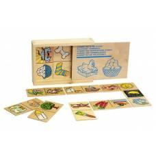 Деревянная игрушка Игра Домино Отношение ЛЭМ 1503