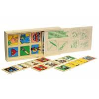 Деревянная игрушка Игра Домино Противоположности ЛЭМ 1504