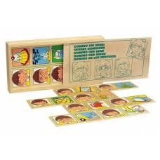 Деревянная игрушка Игра Домино Органы чувств ЛЭМ 1505