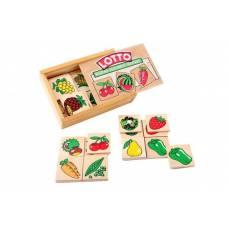 Деревянная игрушка Игра Лото: Овощи, фрукты, ягоды ЛЭМ 1610