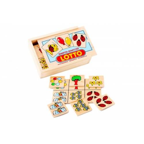 Деревянная игрушка Игра Лото Количество ЛЭМ 1611