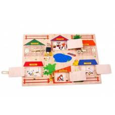 Деревянная игрушка Развивающая доска Замочки ЛЭМ 33572