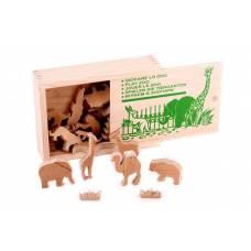 Деревянная игрушка  Играем в зоопарк: объемные фигуры ЛЭМ 5000