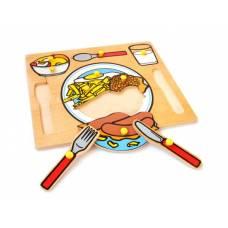 Деревянная игрушка Вкладыши Сервировка стола ЛЭМ 5010
