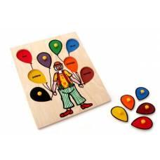 Деревянная игрушка Вкладыши Клоун ЛЭМ 5011