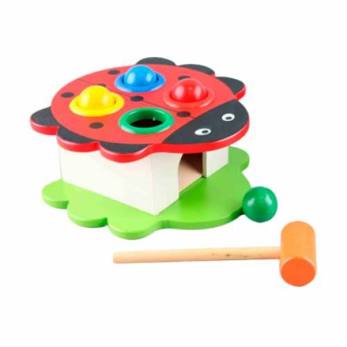 Деревянная игрушка Стучалка Божья коровка W02-1553