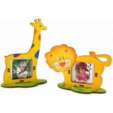 Деревянная игрушка Набор фоторамок Африка WOODY В00266