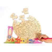 Деревянная игрушка Пазл Умная улитка WOODY В00112