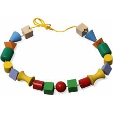 Деревянная игрушка Бусы для малышей мини KOMAROVTOYS К 123