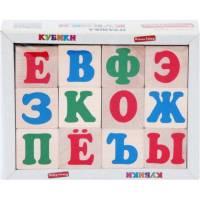 Деревянная игрушка Кубики Алфавит русский Komarovtoys Т 602