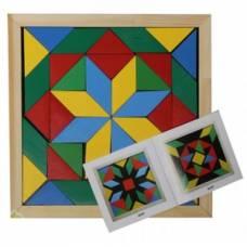 Деревянная игрушка Мозаика-геометрика 2 вида фигур Komarovtoys А 347