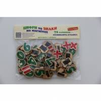Деревянная игрушка Набор Цифры и знаки на магнитах Komarovtoys J 706