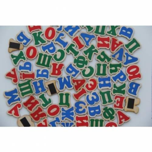 Деревянная игрушка Набор Украинский алфавит на магнитах Komarovtoys J 704