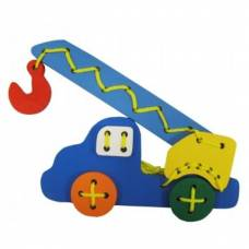 Деревянная игрушка Шнуровка Автокран KOMAROVTOYS К 104