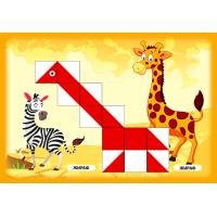 Раннее развитие Альбом заданий для малышей для игры Сложи узор кубики 3х3см  Вундеркинд А-002