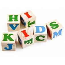 Деревянная игрушка Кубики Алфавит английский Komarovtoys Т 603