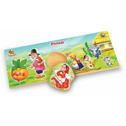 Деревянная игрушка Рамка-вкладыш Сказка Репка ВУНДЕРКИНД РВ-037