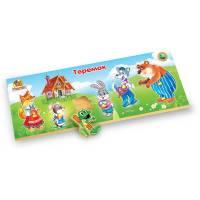 Деревянная игрушка Рамка-вкладыш Сказка Теремок ВУНДЕРКИНД РВ-039