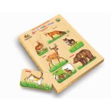 Деревянная игрушка Вкладыши Дикие животные ВУНДЕРКИНД РВ-055